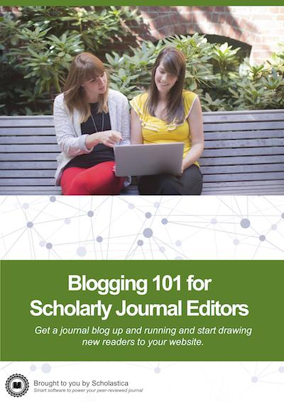 Blogging 101 for Scholarly Journal Editors cover